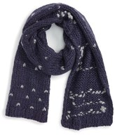 Rebecca Minkoff Women's Knit Heart Stitch Scarf
