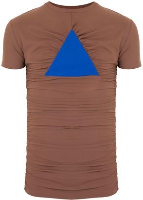 Walter Van Beirendonck Driehoek longline T-shirt