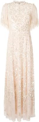 Needle & Thread Sequin-Embellished Maxi-Dress