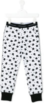 John Galliano spot print tracksuit bottoms - kids - Cotton/Spandex/Elastane - 8 yrs