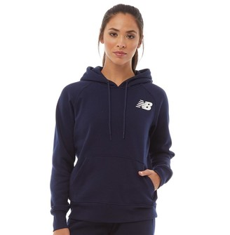 New Balance Womens Core Fleece Hoodie Navy