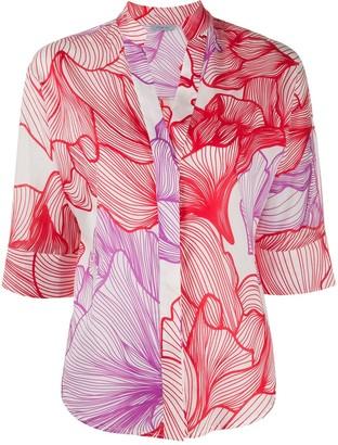 Malo Floral Print Blouse