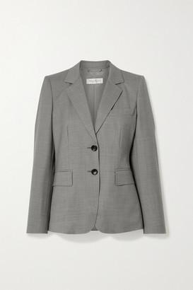Max Mara Visiera Wool Blazer - Gray