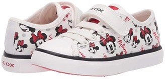 Geox Kids Ciak 64 Minnie Mouse (Toddler/Little Kid) (Off-White/Red) Girl's Shoes