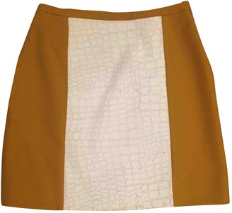 Carven Camel Cotton Skirts