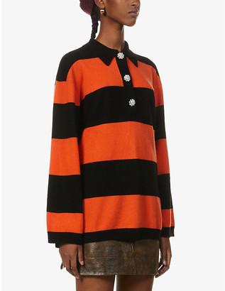 Ganni Striped oversized cashmere jumper