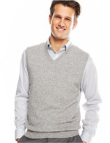 Club Room Cashmere Solid Sweater Vest, Only at Macy's