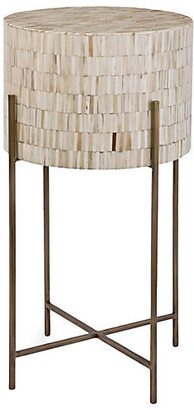 REGINA ANDREW Bone Side Table - Ivory/Brass