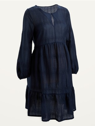 Old Navy Maternity Embroidered Tiered-Hem Swing Dress