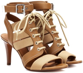 Chloé Leather and canvas sandals