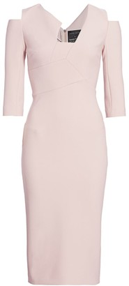 Roland Mouret Kiverton Cutout Crepe Dress