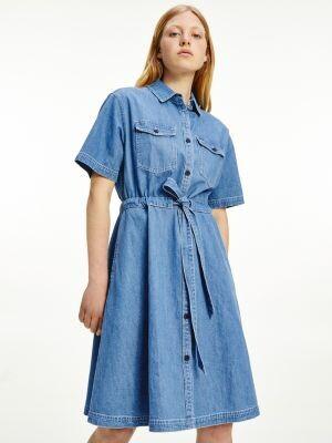 Tommy Hilfiger Belted Denim Shirt Dress