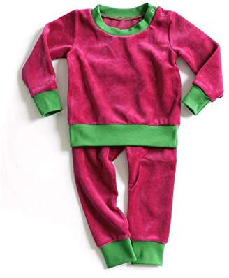 Camilla And Marc Mundo melocotón Baby Girls' Pyjama Set Raspberry/Green 74-80 cm