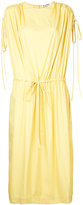 Jil Sander ruched sleeve drawstring dress - women - Cotton/Polyamide/Spandex/Elastane - 34