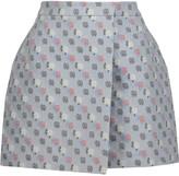 Thom Browne Floral-print jacquard mini wrap skirt