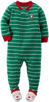 Carter's Baby Girls' Holiday Microfleece 1 Piece Footed Sleeper Pajamas
