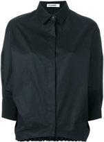 Jil Sander elasticated back hem shirt