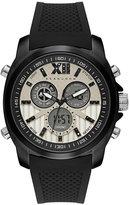 Sean John Men's Portofino Analog-Digital Black Silicone Strap Watch 47mm