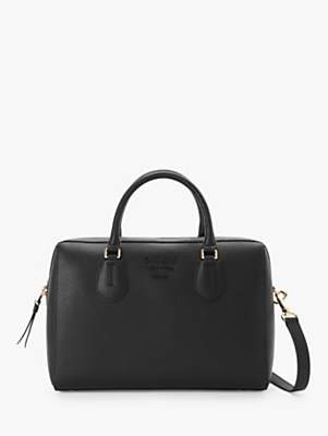 DKNY Noho Large Leather Satchel Bag, Black