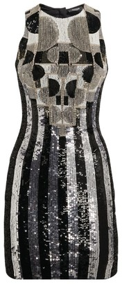 Balmain Sequin-Embroidered Mini Dress
