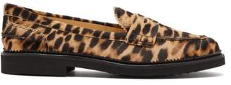 Tod's Leopard Print Calf Hair Loafers - Womens - Leopard