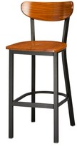 "Regal Bar & Counter Stool Seat Height: Bar Stool (30"" Seat Height), Finish: Black, Upholstery: Cherry Wood"