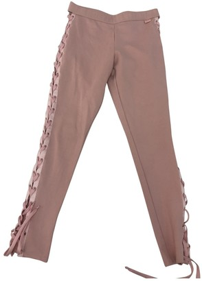FENTY PUMA by Rihanna Pink Cotton Trousers for Women