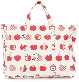 Familiar Apple Print Tote