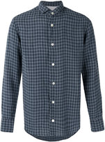Eleventy checked linen shirt - men - Linen/Flax - 41