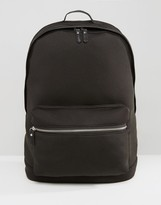 Asos Backpack In Black Scuba