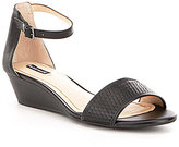 Alex Marie Mairi Leather Wedge Sandals