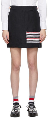 Thom Browne Navy Sack 4-Bar Miniskirt
