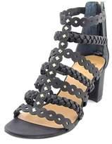 Franco Sarto Paisley Women Open Toe Synthetic Black Gladiator Sandal.