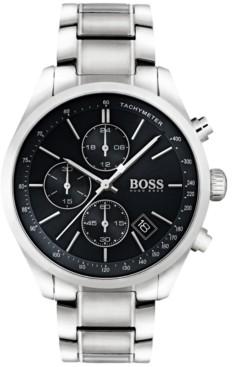 BOSS Hugo Men's Chronograph Grand Prix Stainless Steel Bracelet Watch 44mm 1513477