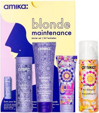 Amika Blonde Maintenance - Bust Your Brass Purple Haircare Starter Set