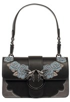 Pinko Women's Black Leather Shoulder Bag.