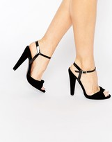 Paper Dolls Wilde Velvet Knot Ankle Strap Heeled Sandals