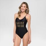 Vanilla Beach Women's Bride Tribe One Piece Swimsuit - Onyx