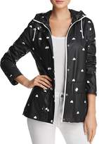 Aqua Heart Print Hooded Raincoat - 100% Exclusive