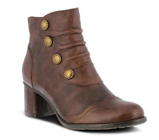 Spring Step L'Artiste by Block-Heel Leather Booties - Estretta