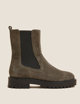 Thumbnail for your product : Marks and Spencer Suede Chelsea Block Heel Ankle Boots