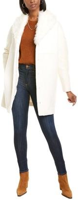 Moncler Savoyane Silk-Lined Wool-Blend Coat