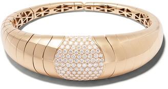 Mattia Cielo 18kt rose gold diamond Iguana bangle