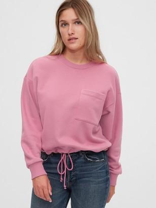 Gap Workforce Collection Drawstring Crewneck Sweatshirt