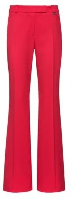 HUGO BOSS Regular-fit trousers with kick-flare hems