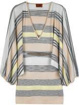 Striped batwing sweater