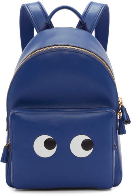 Anya Hindmarch Blue Mini Eyes Backpack