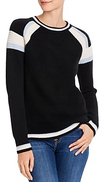 Bloomingdale's C by Textured Stripe Cashmere Sweater - 100% Exclusive