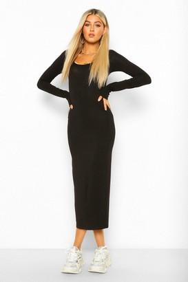 boohoo Tall Long Sleeve Bodycon Midi Dress
