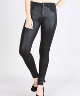 Black Two-Tone Jeggings